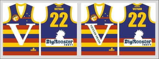 The Rooster's latest proposed jumper for the Swans