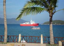 The faded Vietnam Swans boat in Nha Trang Bay on an undisclosed date
