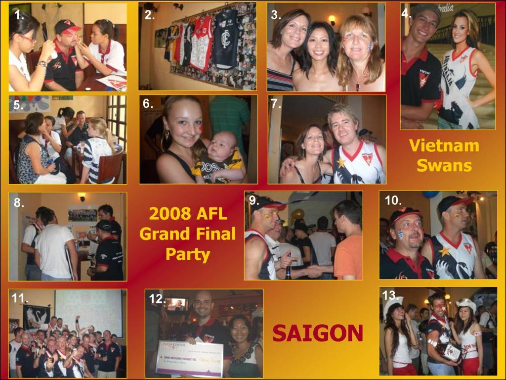 The Vietnam Swans 2008 AFL Grand Final Party, Saigon