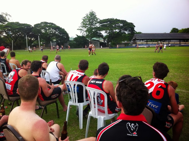 The Swannies watch the Grand Final of the Manila Cup played between the Philippines and the Singapore Wombats on Saturday.