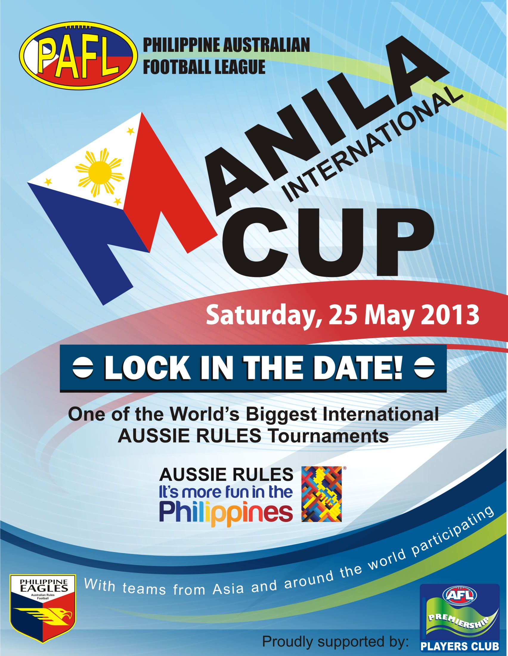 Tomorrow, the Swannies will play in our first Manila International Cup.