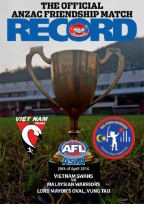 2014 Official ANZAC Friendship Match Record