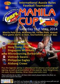 The Manila Cup, 31 May 2014. Go you Swannies!