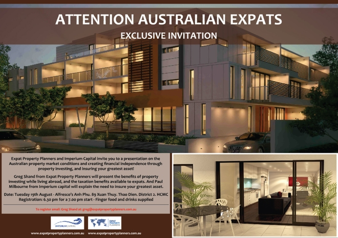 Come down and join Swannies sponsor Greg Shand from Expat Property Planners as he, along with Paul Milbourne from Ipermium Capital, give us the run down on investing and protecting property in Australia while living abroad.