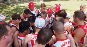 Swannies firing up for the first game of the day