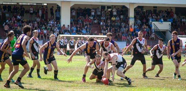 Action from the 2014 Anzac Friendship Match courtesy of Rock Portrait Photography