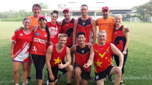 Dragon Industries Asia AFL 9s winners